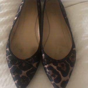 Jcrew leopard flats fabric size 91/2
